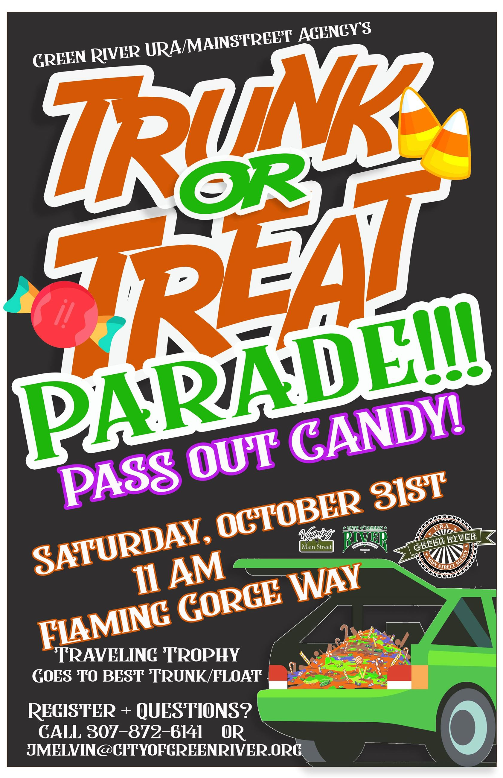 Trunk or Treat Parade poster